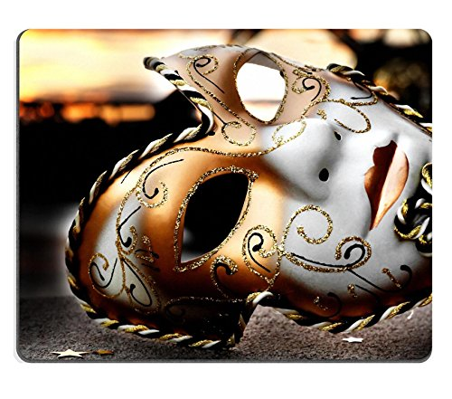 [MSD Natural Rubber Mousepad Venetian Mask by the River Bridge with Sunset IMAGE 25370361] (Custom Phantom Of The Opera Costumes)