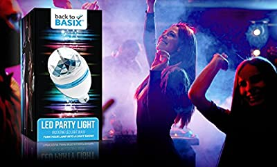 Party Light-LED Rotating Multi Color Light,Disco Light Colors Dance Parties, Birthday Parties, Bars