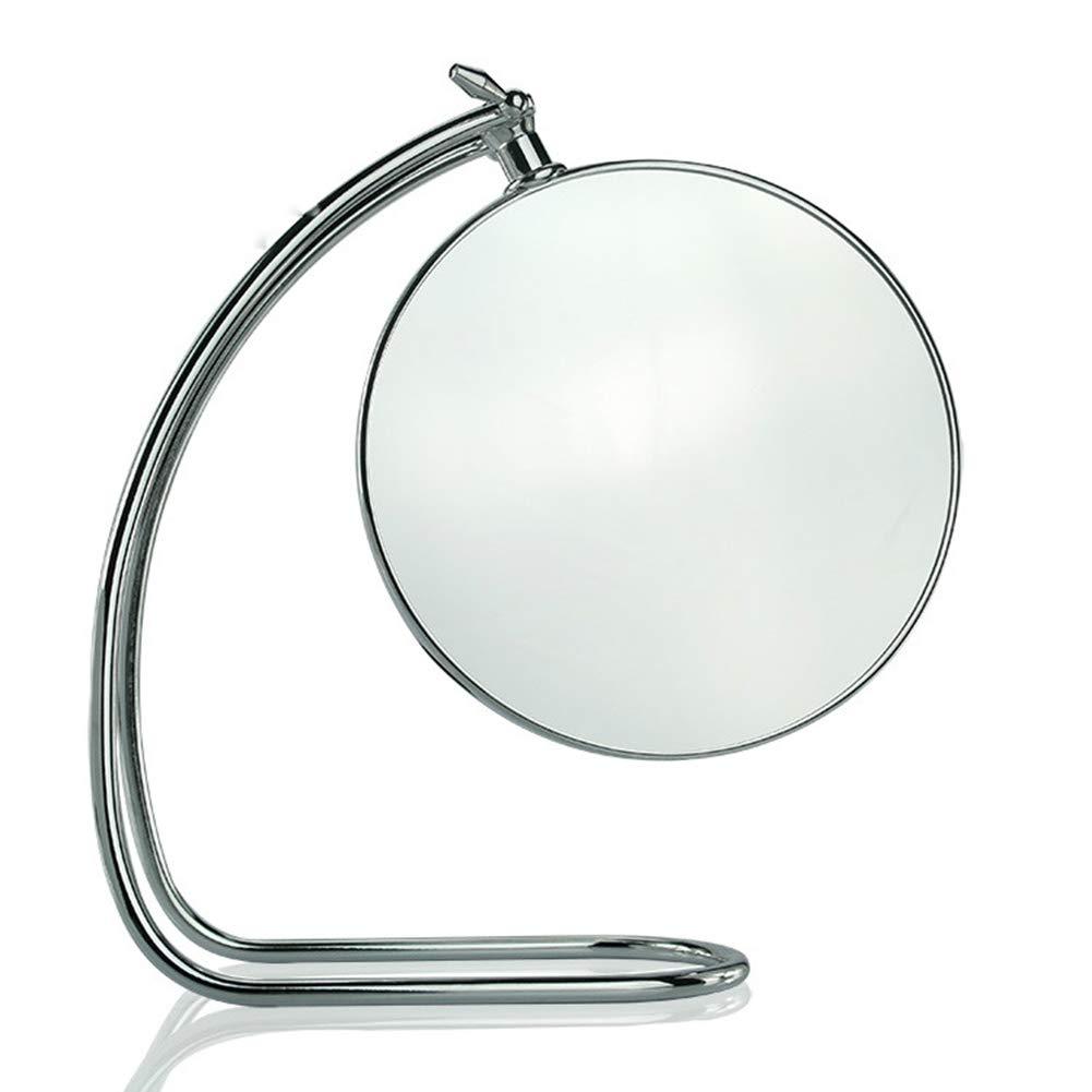 GWO Spaire Desktop Schminkspiegel Vertikal Doppelseitig 7 Zoll Gewöhnlicher Und Dreifacher Vergrößerung 2 In 1 360 ° Drehbarer Spiegel