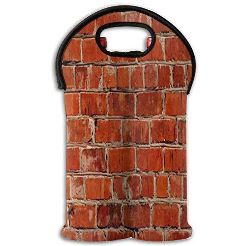 - Wine Bag Red Brick 2 Bottle Red Wine Tote Bag Cooler Champagne Carrier Bag