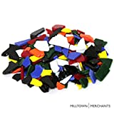 Milltown Merchants™ Multicolored Stained Glass Pieces 3 lb - Opaque Blend Stained Glass Cobbles - Broken Glass Chips for Stepping Stones and Crafts - Glass Coblets Bulk Assortment