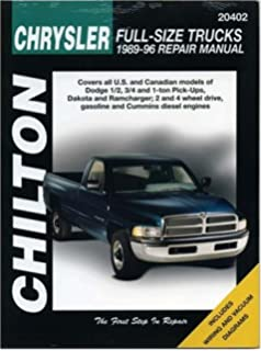 Dodge pick ups 1994 2001 haynes repair manuals haynes chrysler full size trucks 1989 96 chilton total car care series manuals fandeluxe Images