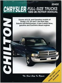 Chrysler Full-Size Trucks, 1989-96 (Chilton Total Car Care Series Manuals)