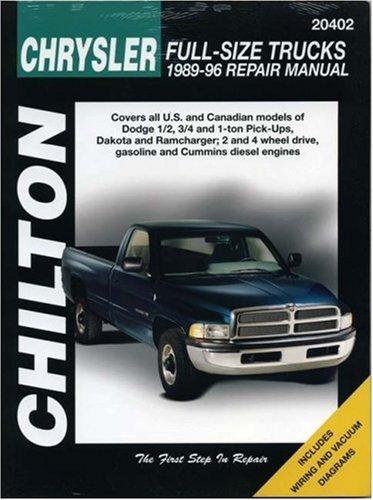 Chrysler Full Size Trucks  1989 96  Chilton Total Car Care Series Manuals