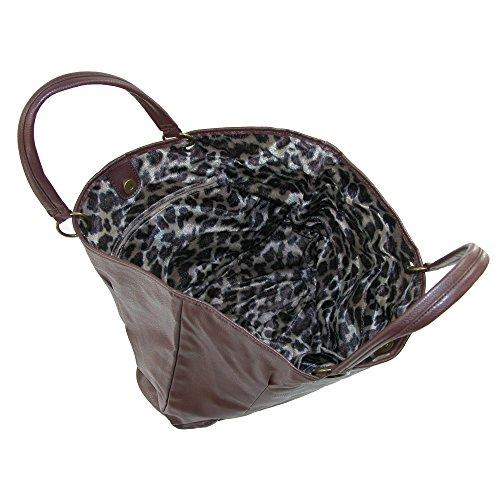 CTM , Damen Tote-Tasche Einheitsgröße Braun