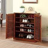 247SHOPATHOME cm-AC213A Della Classic Style Shoe Cabinet, Rustic Oak