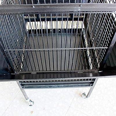 jaula para loro grande de color gris oscuro 156*46*46cm: Amazon.es ...