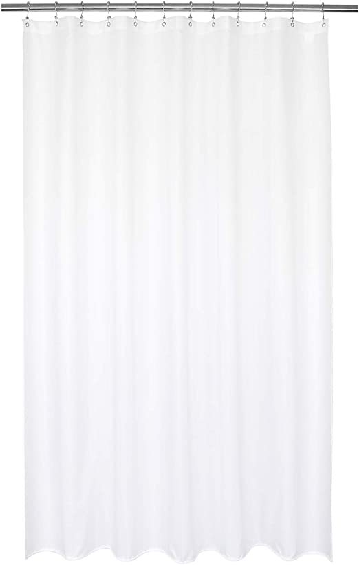 Amazer Shower Curtain Polyester Fabric Shower Curtain Liner Hotel Quality Bathroom Shower Curtains Water Repellent