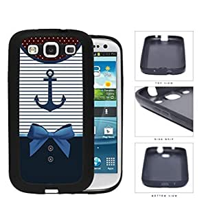 Sailor Anchor Dress Rubber Silicone TPU Cell Phone Case Samsung Galaxy S3 SIII I9300