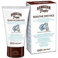 Hawaiian Tropic Sensitive Skin Face - Loción Solar Protectora para el Rostro especial para Piel Sensible con protección…