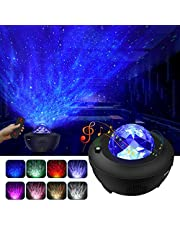 Star Projector, 3 in 1 Ocean Wave Projector Star Sky Night Light w/LED Nebula Cloud with Bluetooth Music Speaker & Timer Function for Christmas Gift/Kids Bedroom/Game Rooms/Home Theatre/Room Decor/Night Light Ambiance (black)