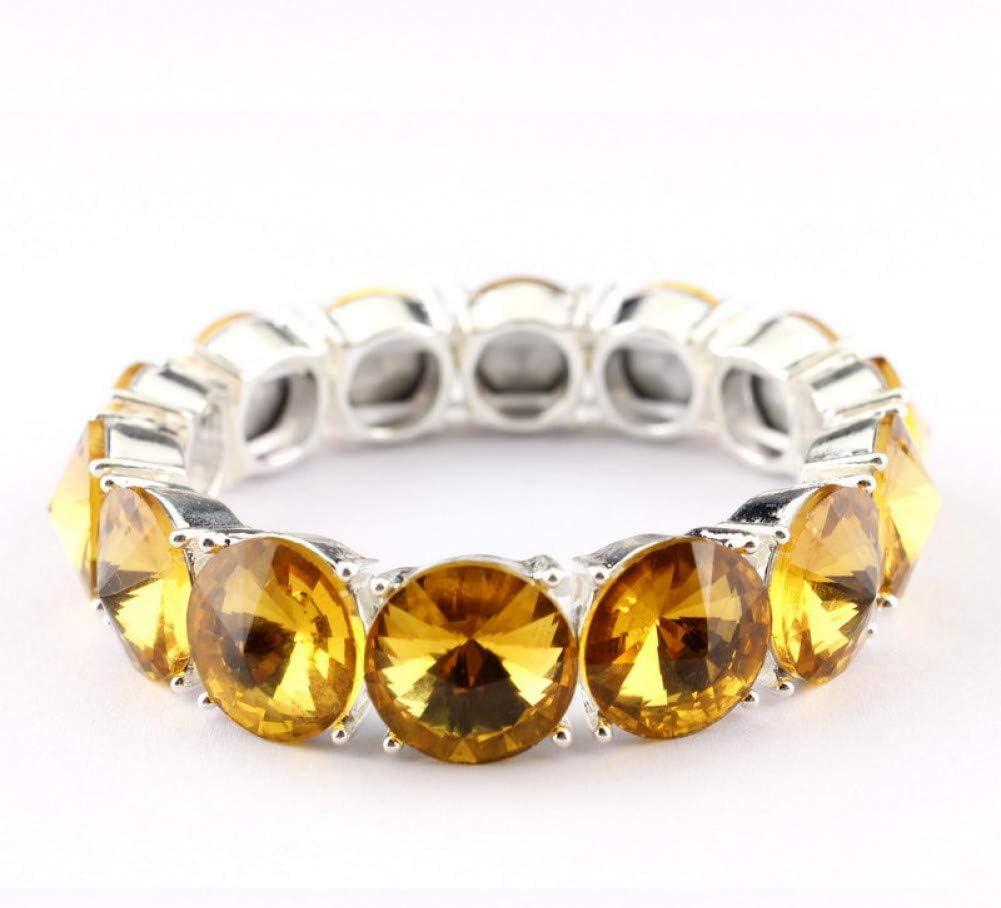HUSHOUZHUO Ajustable Oro Cristal Cristal Dot Pulseras Brazaletes para Las Mujeres De ModaPulseras De Plata Joyería Dubai