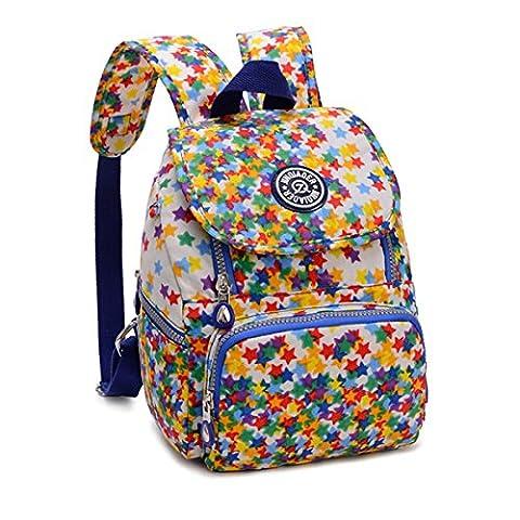 Tiny Chou Mini Waterproof Nylon Backpack Lightweight Strong Shoulder (Flap Satchel Handbag)
