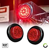 2PC-2-Round-10-LED-Light-2-in-1-Reflector-Polycarbonate-Reflector-10-LEDs-DOT-Certified-2-Year-Warranty-Side-M