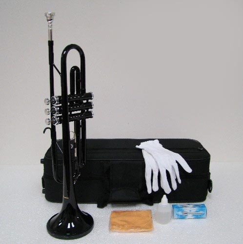 Merano B Flat Green / Silver Trumpet with Case+Mouth Piece+Valve Oil+Metro Tuner+Black Music Stand by Merano