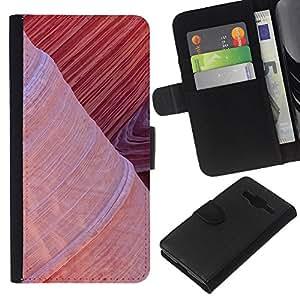 KLONGSHOP // Tirón de la caja Cartera de cuero con ranuras para tarjetas - Planta Naturaleza Forrest Flor 99 - Samsung Galaxy Core Prime //