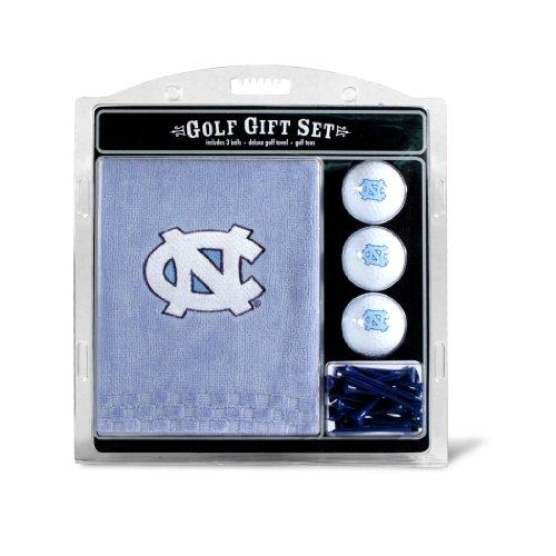 Team Golf NCAA North Carolina Tar Heels Gift Set Embroidered Golf Towel, 3 Golf Balls, and 14 Golf Tees 2-3/4