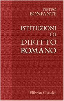 Book Istituzioni di Diritto Romano (Italian Edition)