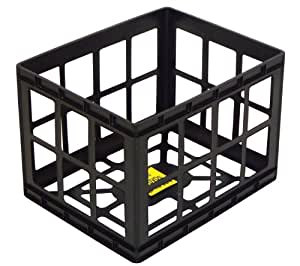 United Solutions-Organize Your Home CR0184 Black Small Plastic Standard Storage Crate -Mini Plastic Organizing Crate in Black for Space Saving Areas of Home, Office or Dorm Room