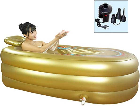 Bath Barrel Adult Foldable Portable Bathtub Spa Adults with Drain for Shower Stall Bath Bucket BPA Free Thickening Freestanding Soaking Bath Tub Babies Swimming PoolGeometry
