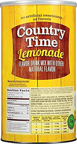 Country Time Lemonade Drink Mix, 82.5 oz Can (Pack of 2, Total of 165 Oz)