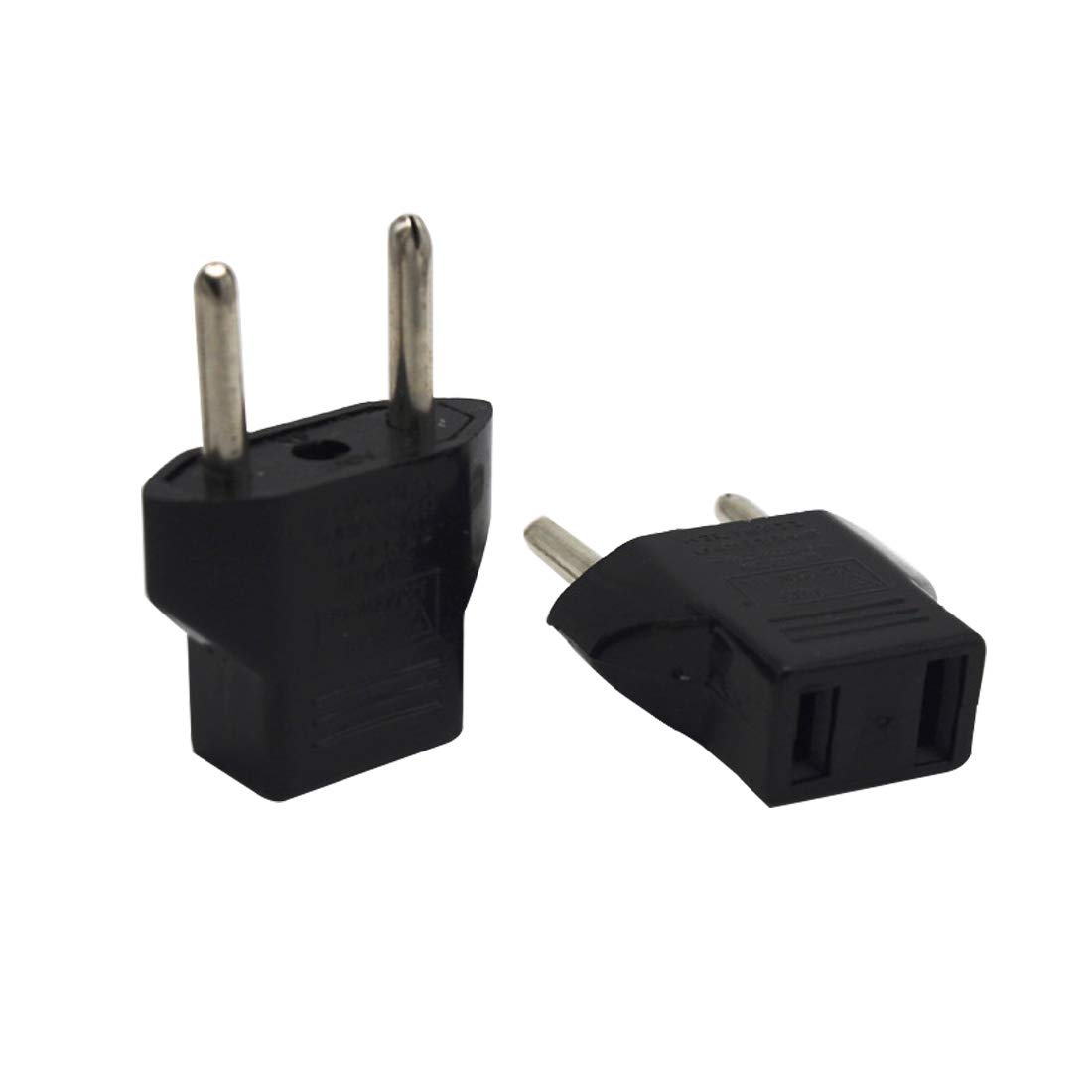 Loweryeah US to European Plug Adapter Premium Power Converter (2 Pieces)