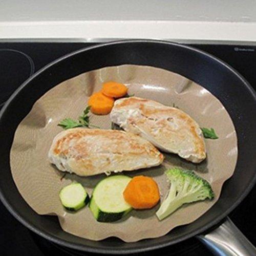 Baking Mat, Staron Baking Tray Mat Liners High Temperature Non-Stick Pan Frying Pan Liner BBQ Grill & Baking Mats, Diameter 24 cm (Black) by Staron (Image #4)