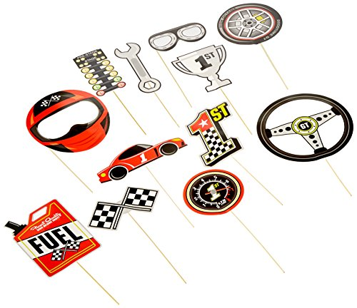 Fun Express Race Car Stick Photo Props ()