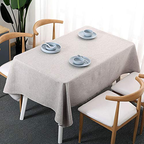 - ZSLLO 100% Linen Tablecloth - 36 X Inch Charcoal Grey, European Linen, Natural Fabric - Athena Square Tablecloth For Indoor And Outdoor Use. (Color : A, Size : 130180cm -51.170.8)
