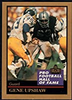 Football NFL 1991 ENOR Pro Football HOF #144 Gene Upshaw NM-MT Raiders