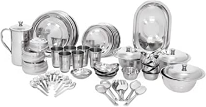 Buy Kitchen Pro Stainless Steel Dinner Set Of 61 Pcs Online At Low