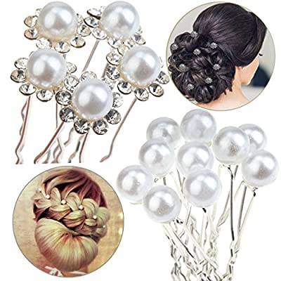 15pcs Hair Pins / Slides / Barrettes / Weddings Brides / Proms / Balls Hairstyles Decorations Pearls