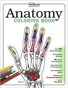 Kaplan Anatomy Coloring Book 9780743264242 Medicine