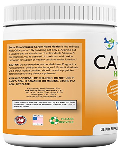 Cardio-Heart-Health-L-Arginine-Powder-Supplement-5000mg-plus-1000mg-L-Citrulline-with-Minerals-and-Antioxidants-Vitamin-C-E-Total-Cardiovascular-System-Health-Formulated-by-REAL-DOCTORS