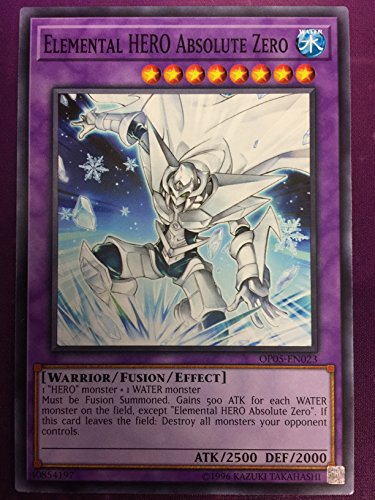 Yugioh Elemental HERO Absolute Zero OP05-EN023 Common Unlimited Edition OTS Tournament Pack 5 (Unlimited Edition Common Card)