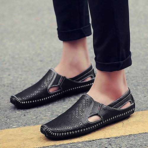 On Slip Hombre Mocasín Loafers Cuero Zapatos de Mocasines katliu Zapatillas Negro de Planos Casual Zapatos de 1WAqXIa