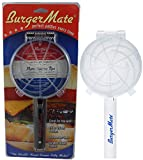 Non-Stick The Burger Mate As Seen On TV! Burger Press Hamburger Patty Maker for BBQ Grill, Parties, Dinner, and more (White & Black)