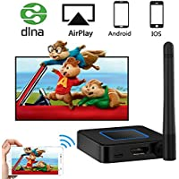 WiFi Display Dongle, Weton 5G&2.4G Dual-Band Wireless Display Receiver Wireless Screen Mirroring Adapter 1080P HD &AV Dual Output Support Airplay DLNA Miracast Compatible iOS/Android/TV/Projector