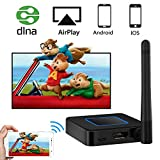 WiFi Display Dongle, Weton 5G&2.4G Dual-band Wireless Display Receiver Wireless Screen Mirroring Adapter 1080P HD &AV Dual Output Support Airplay DLNA Miracast for IOS/Android/TV/Projector