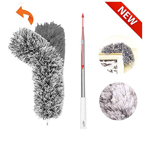 (Telescopic Extendable Duster,Cobweb Duster with Stainless Steel Extension Pole Reach 30