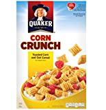 crunchy corn bran - Quaker Corn Crunch- Toasted Corn and Oat Cereal 10.5 Oz   (Pack of 1)