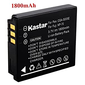 Kastar Charger, Battery for CGA-S005-1 CGA-S005 CGR-S005 S005