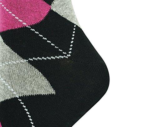 Haute Femmes Noir À Genou Fuchsia 36 Cendre 46 Taille Argyle Hommes Mysocks® Chaussettes CqR5wFxt