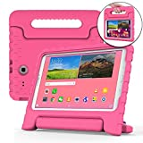 Samsung Galaxy Tab E 9.6 case for kids [SHOCK PROOF KIDS TAB E CASE] COOPER DYNAMO Kidproof Child Tab E 9.6 inch Cover for Girls, Toddlers | Light, Kid Friendly Handle & Stand, Screen Protector (Pink)