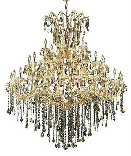 Karla Gold Traditional 49-Light Grand Chandelier Swarovski Elements Crystal in Golden Teak -2381G60G-GT-SS--36