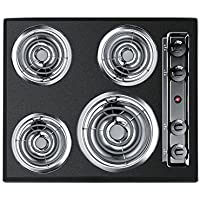 Summit Appliance 24 in. Coil Electric Cooktop in Black with 4 Elements