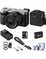 $2098 » Sony Alpha 7C Mirrorless Digital Camera with FE 28-60mm f/4-5.6 Lens, Silver, Bundle with Bag, 128GB SD Card, Extra Battery, Compact Charger, Wrist Strap, Filter Kit, Cleaning Kit