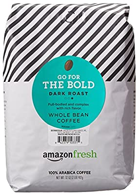 AmazonFresh Dark Roast Whole Bean Coffee, 32 Ounce from AFS Brands LLC