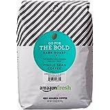 AmazonFresh Go For The Bold Whole Bean Coffee, Dark Roast, 32 Ounce