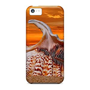 Premium Sea Shellsunset Back Cover Snap On Case For Iphone 5c